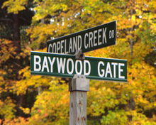 Copeland Creek Street Signs