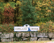 Copeland Creek Sign