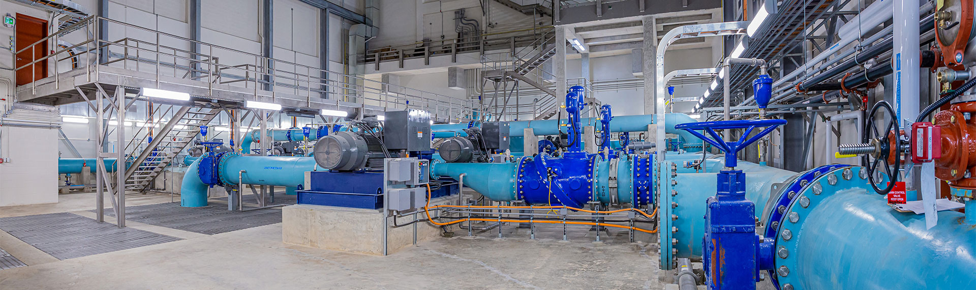 Alloa Reservoie and Pumping Station Interior - OPWA Award 2020 - Project of the Year