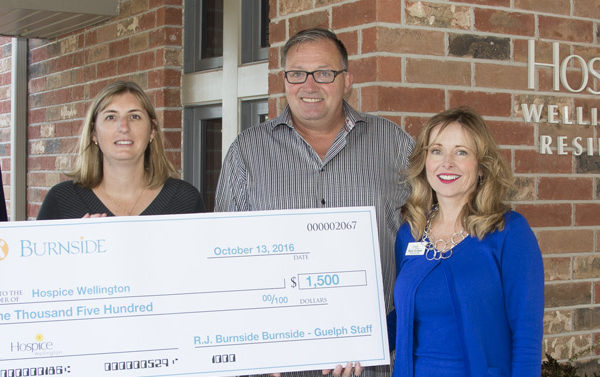Hospice Wellington Guelph Check Presentation
